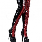 Leather Latex Boots