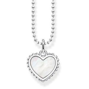 THOMAS SABO NECKLACE HEART (WHITE) 1900 tok